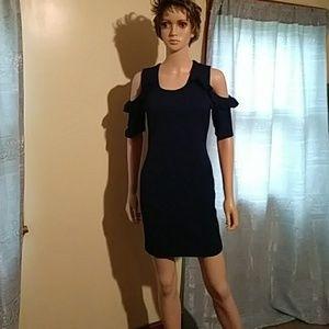 Navy blue dress by Fashion magazine